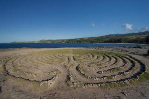 labyrint in de buurt van drakentanden, Maui, Hawaï foto