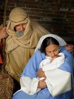 kerst heilige familie foto