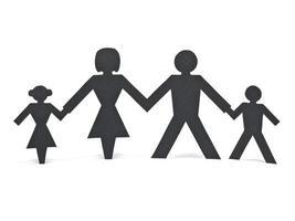 geïsoleerde papier familie foto
