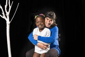 multiraciale familie van moeder en dochter
