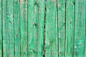 oude groene piket hek foto