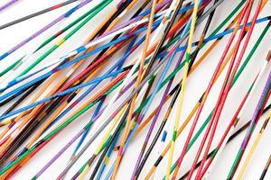 kleurrijke kabel foto