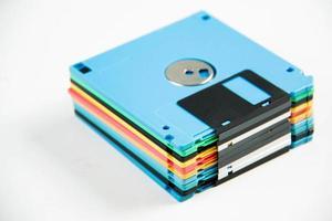 floppy disk magnetisch op witte achtergrond. foto