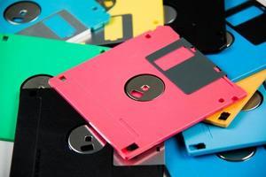 magnetische diskette is een achtergrond. foto