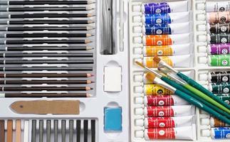 schetsen en schilderen art set foto