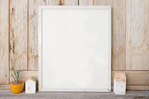 Decoratief frame in de kamer foto