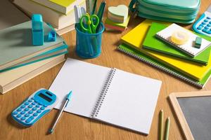 bureaublad van de student foto