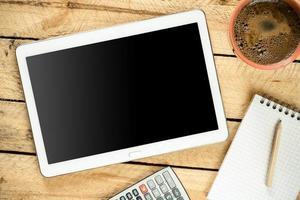 tablet pc met leeg scherm foto
