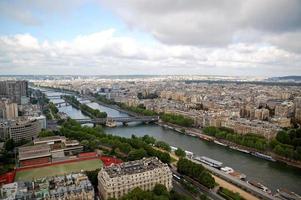 Luchtfoto panorama van Parijs foto