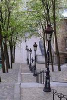 de trappen van Montmartre, Parijs, Frankrijk
