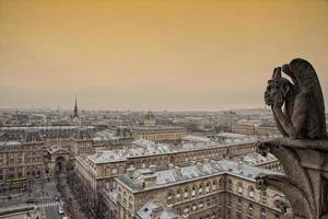 zicht op Parijs. foto