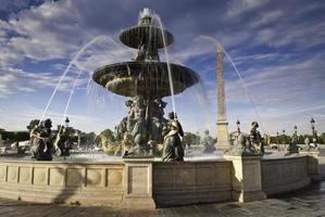 fonteinen op de place de la concord, parijs foto