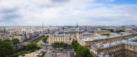 panorama van Parijs foto