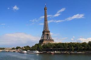 la tour eiffel à paris, frankrijk foto