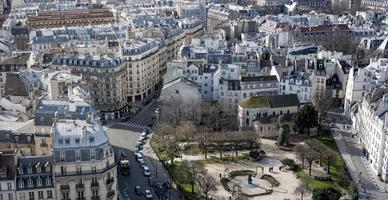 panoramisch luchtfoto van Parijs foto