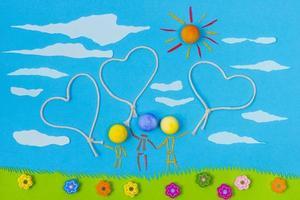kinderspel: gelukkig gezin foto