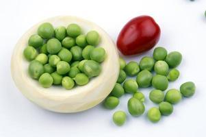 groenten op witte achtergrond foto