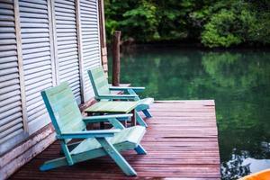 houten stoel foto