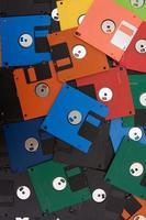 gekleurde floppy disk foto