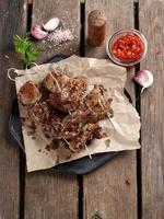 gegrild vlees (kebab) foto