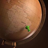 Brazilië gemarkeerd foto