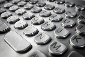 metalen toetsenbord foto