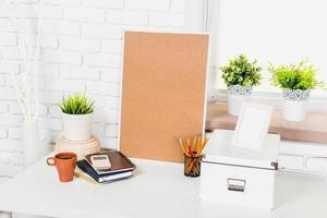stijlvolle werkruimte aan huis foto