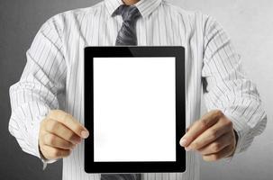 touch-tablet in handen foto