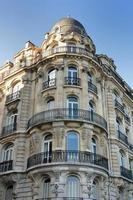 hoge Parijse straathuizen foto