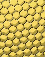 close up van zwarte net. geel licht.