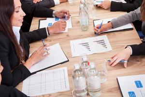 ondernemers in de vergadering foto