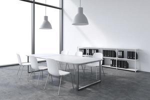 vergaderruimte in een modern panoramisch kantoor foto