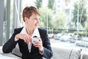 zakenvrouw op een pauze foto