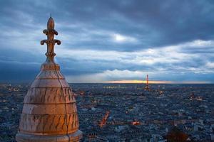 Parijs uit Montmarte, Frankrijk.