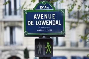 straatnaambord in Parijs foto
