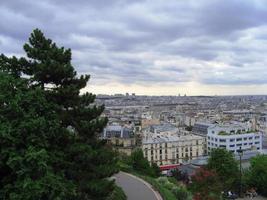 zicht op Parijs vanaf Montmartre foto