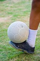 oude zaalvoetbal foto