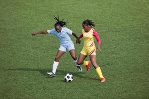 vrouwenvoetbal foto