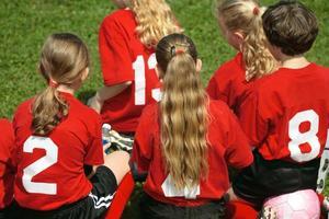 voetbalteam zijlijn foto
