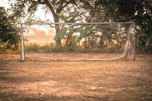 vintage foto van voetbaldoel