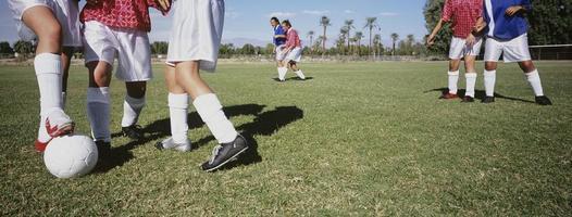 voetbal spelers foto