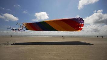 vlieger, schaduw en strand foto