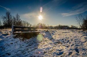 sneeuw bankje foto