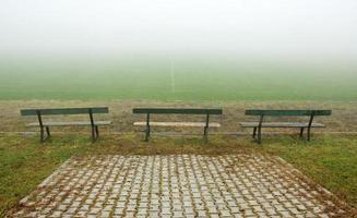 wedstrijd uitgesteld vanwege de mist foto