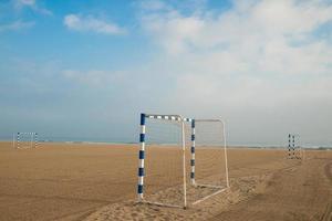 strandvoetbal doelen foto