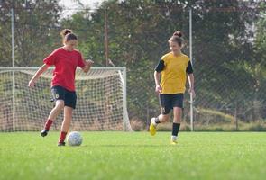 meisjes voetbal foto