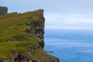 latrabjarg cape, vestfirdir, ijsland, rand van de wereld foto