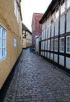 oude straat in Ribe, Denemarken