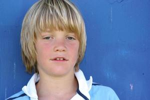 blauw portret foto