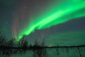 pleiades & aurora borealis ver 2 foto